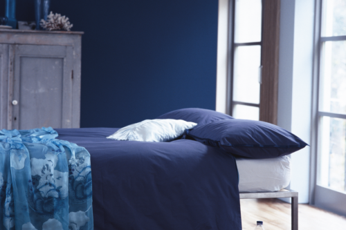 blått sovrum
